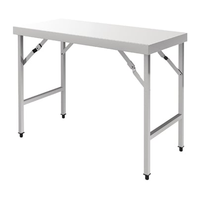 vogue stainless steel folding table 600 d mm p cb905 buy online