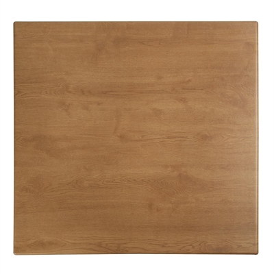 table top. Werzalit-square-table-top-oak-effect-600mm Table Top
