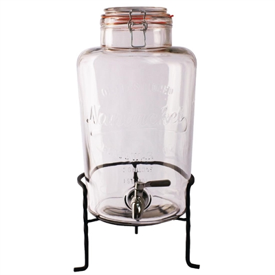 olympia nantucket style drink dispenser with wire stand ck939 buy online at nisbets. Black Bedroom Furniture Sets. Home Design Ideas