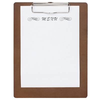 olympia wooden menu presentation clipboard a4 cl174 buy online