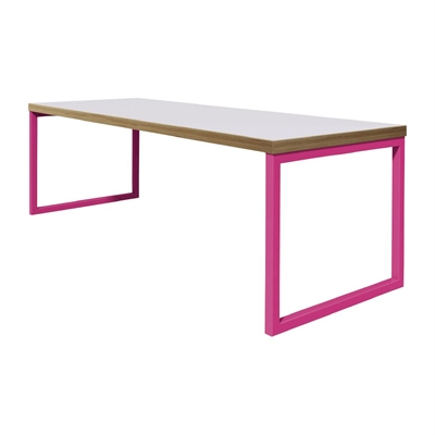 Bolero Dining Table White with Pink Frame - P_DM656 - Buy Online at ...