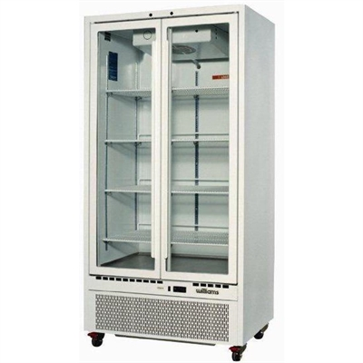 Williams double upright glass door fridge hq28gdcb dn468 buy upright 2 glass door fridge colorbond exterior with stainless interior direct planetlyrics Gallery