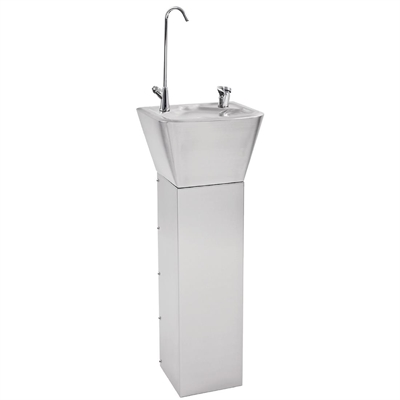 Franke Sissons Stainless Steel Pedestal Drinking Fountain ...