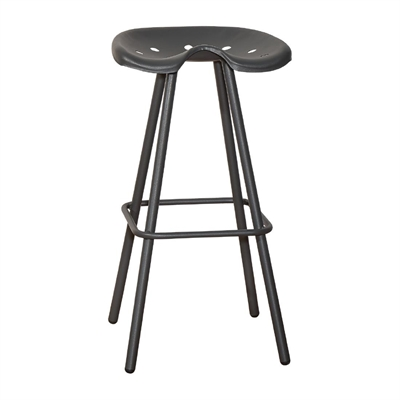 tabouret de bar m tal avec si ge tracteur anthracite. Black Bedroom Furniture Sets. Home Design Ideas