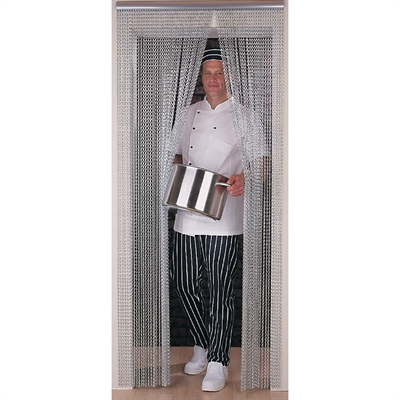 Chain Door Curtain Metal Fly Screen For Caterers Nisbets