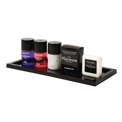 Bathroom presentation tray black gf952 buy online at for Bathroom tray for toiletries