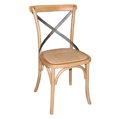 21818dd06d8 Bolero Natural Wooden Dining Chairs with Backrest (Pack of 2)