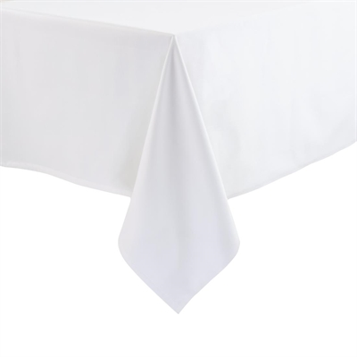 Charmant Square Polycotton Tablecloth White 90in