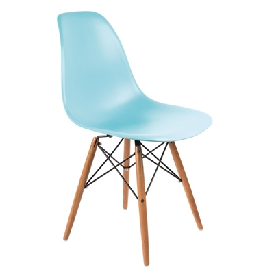 PP Moulded Chair (Ocean Blue) With Wooden Spindle Legs (Pack 2) ...