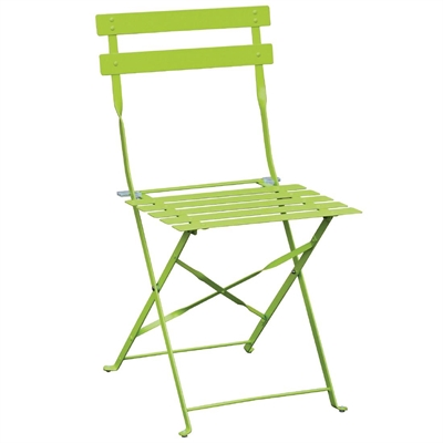 bolero green pavement style steel folding chairs pack of 2 gh552
