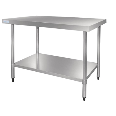 Vogue stainless steel table without upstand 700 d mm p for Table cuisine inox professionnelle