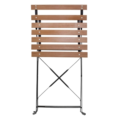 bolero faux wood bistro folding chairs pack of 2 gj766 buy online at nisbets. Black Bedroom Furniture Sets. Home Design Ideas