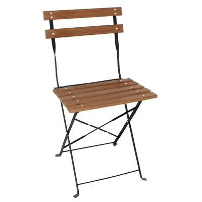 bolero faux wood bistro folding chairs pack of 2 gj766 buy