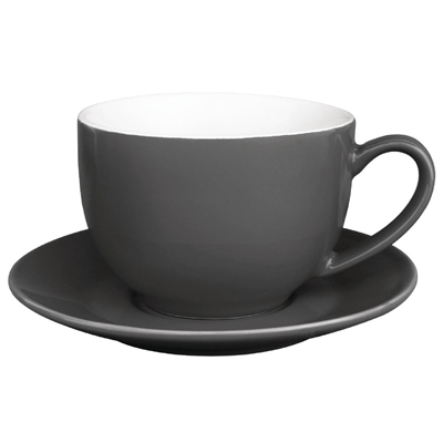 Olympia Cafe Saucer Charcoal For 8oz 12oz Box