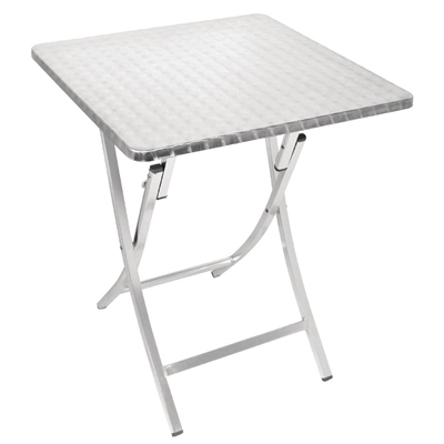 bolero aluminium square 600mm folding bistro table