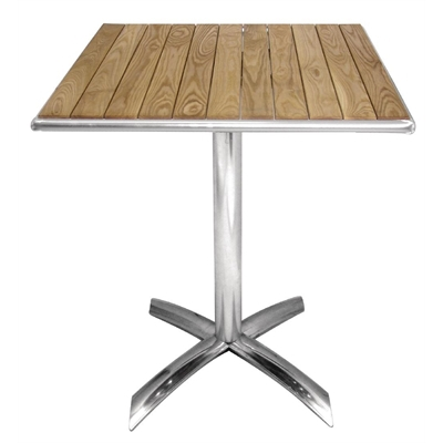 Bolero ash flip top square bistro table 600mm gk991 buy online bolero flip top bistro table square ash 600mm watchthetrailerfo