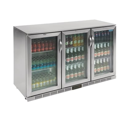 Polar Refrigerated Triple Hinged Door Back Bar Cooler St Exterior Al Interior