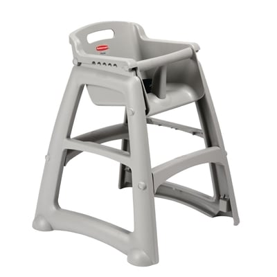 rubbermaid sturdy stacking high chair platinum m959 buy online