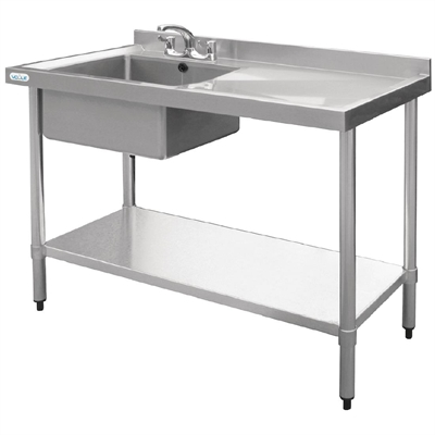 Vogue Stainless Steel Sink Left Hand Bowl 1000x600mm ...