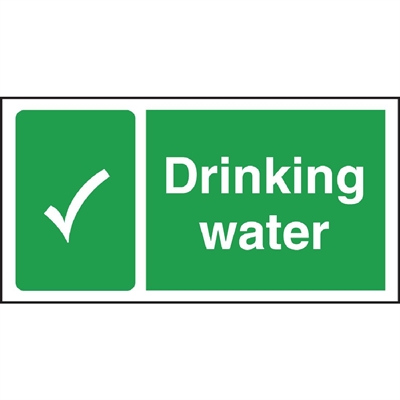 Drinking Water Sign W194 Buy Online At Nisbets