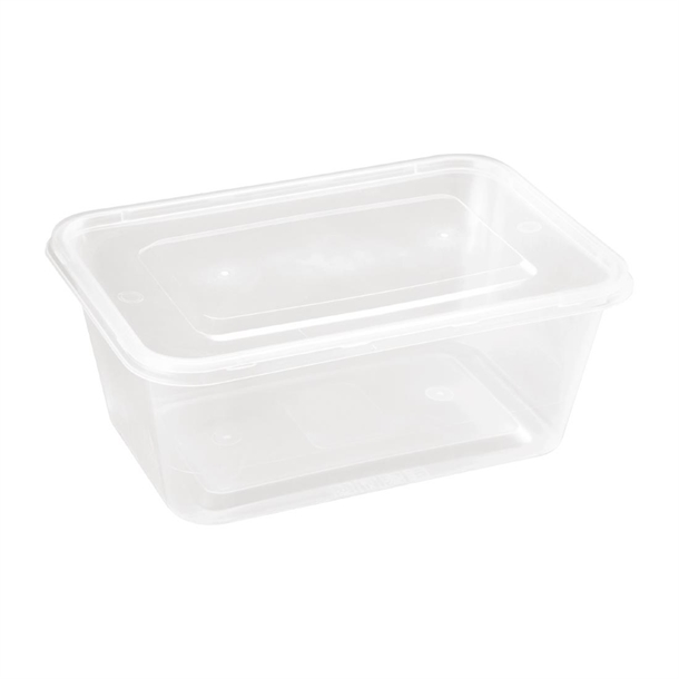 Large Plastic Microwave Container Pack Of 250