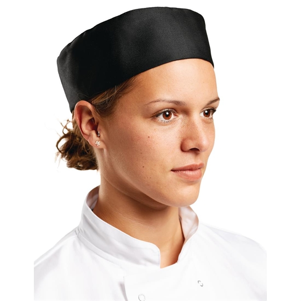 6abce135d81 Whites Chef Skull Cap Black - P A206 - Buy Online at Nisbets