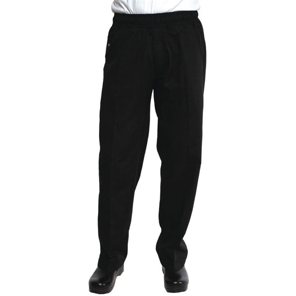 afe5426a54 Chef Works Unisex Better Built Baggy Chef Trousers Black - P_A695 ...