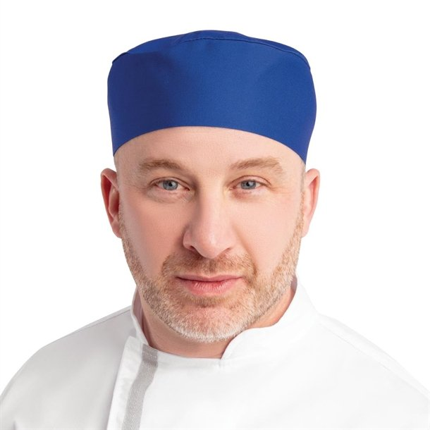 e1c92a1862c Whites Chefs Skull Cap Royal Blue - A706 - Buy Online at Nisbets