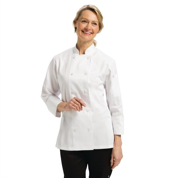 7cba9a7d3fd Chef Works Marbella Womens Executive Chefs Jacket White - P B138 ...