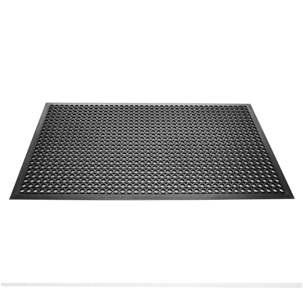Black Anti Fatigue Rubber Mat Nisbets Australia