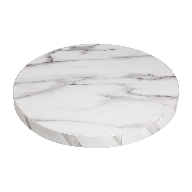 Bolero Pre Drilled Round Table Top, Marble Round Table Top