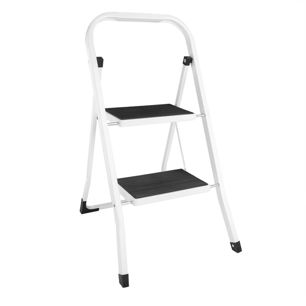 Pleasant Folding Step Stool 2 Tread Caraccident5 Cool Chair Designs And Ideas Caraccident5Info