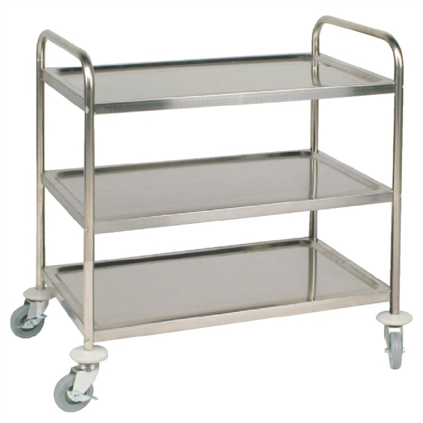 Vogue Stainless Steel 3 Tier Clearing Trolley Large F995 Buy