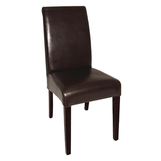 Super Bolero Curved Back Leather Chairs Dark Brown Pack Of 2 Ncnpc Chair Design For Home Ncnpcorg