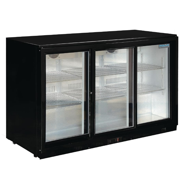 Polar Back Bar Cooler With Sliding Doors In