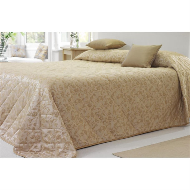 Essentials Sovereign Bedspreads Gold, What Size Is A Super King Bedspread