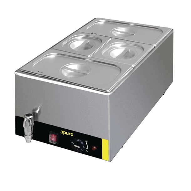 Apuro Bain Marie with Tap & Pans