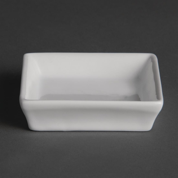 Olympia Flat Square Miniature Dishes 80mm Pack Of 12