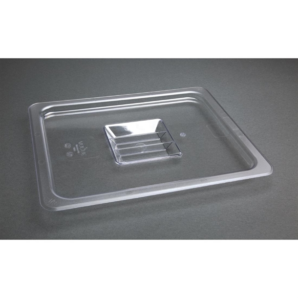 Cambro Clear 1/2 GN Notched Cover w/Handle - 20CWCHN135   FEM
