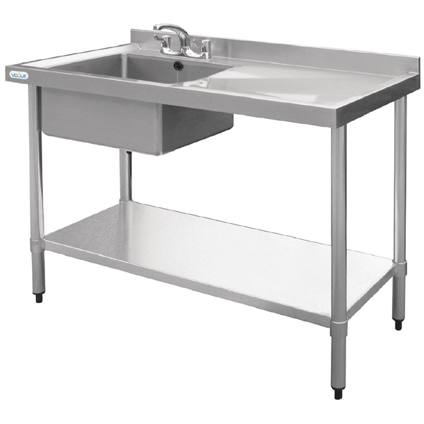 f25561f996 Vogue Stainless Steel Sink Right Hand Drainer 1000x600mm - U901 ...