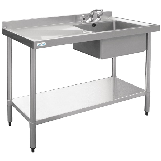 888bd6256a Vogue Stainless Steel Sink Left Hand Drainer 1000x600mm - U902 - Buy ...