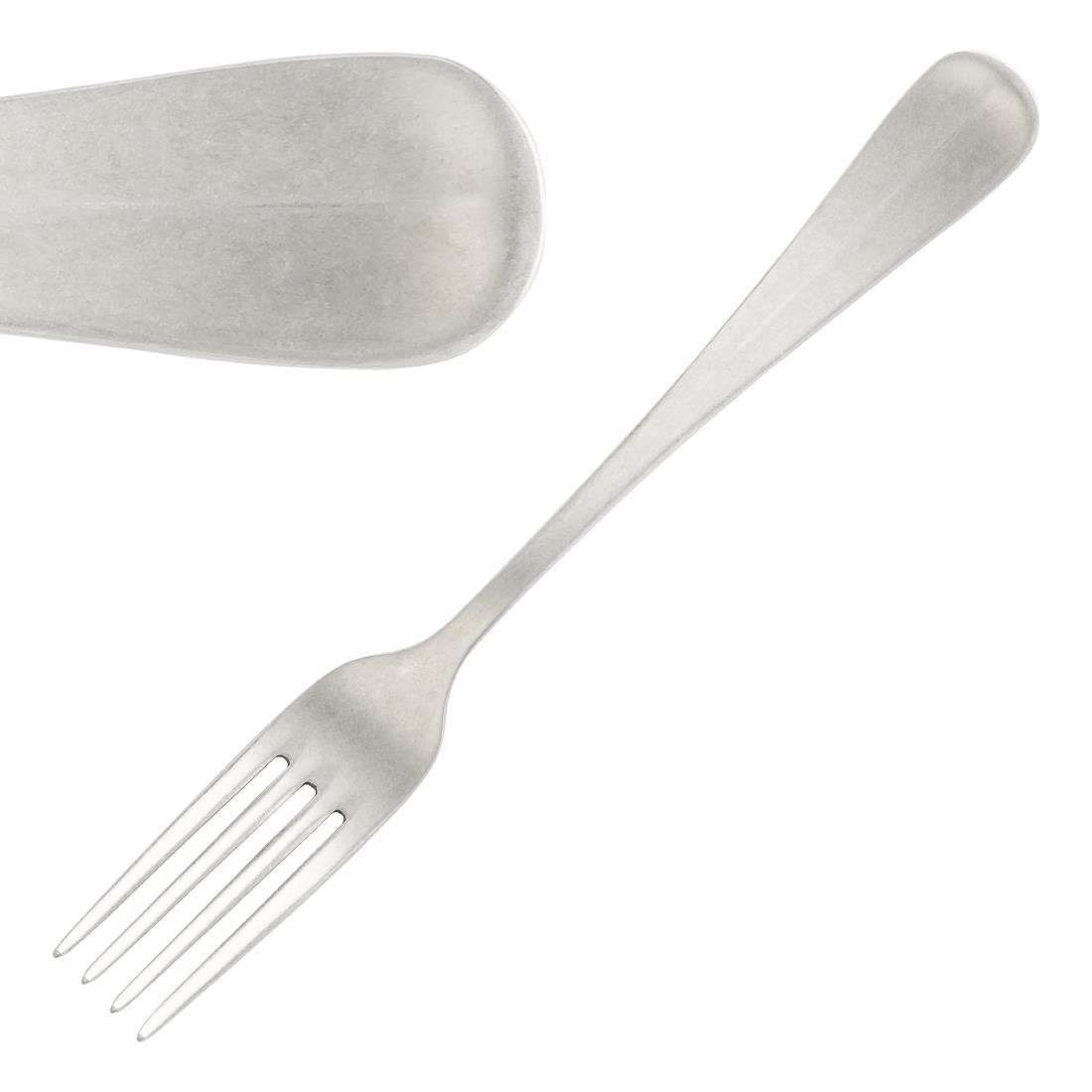 Image of Pintinox Baguette Stonewashed Dessert Fork (Pack of 12) Pack of 12
