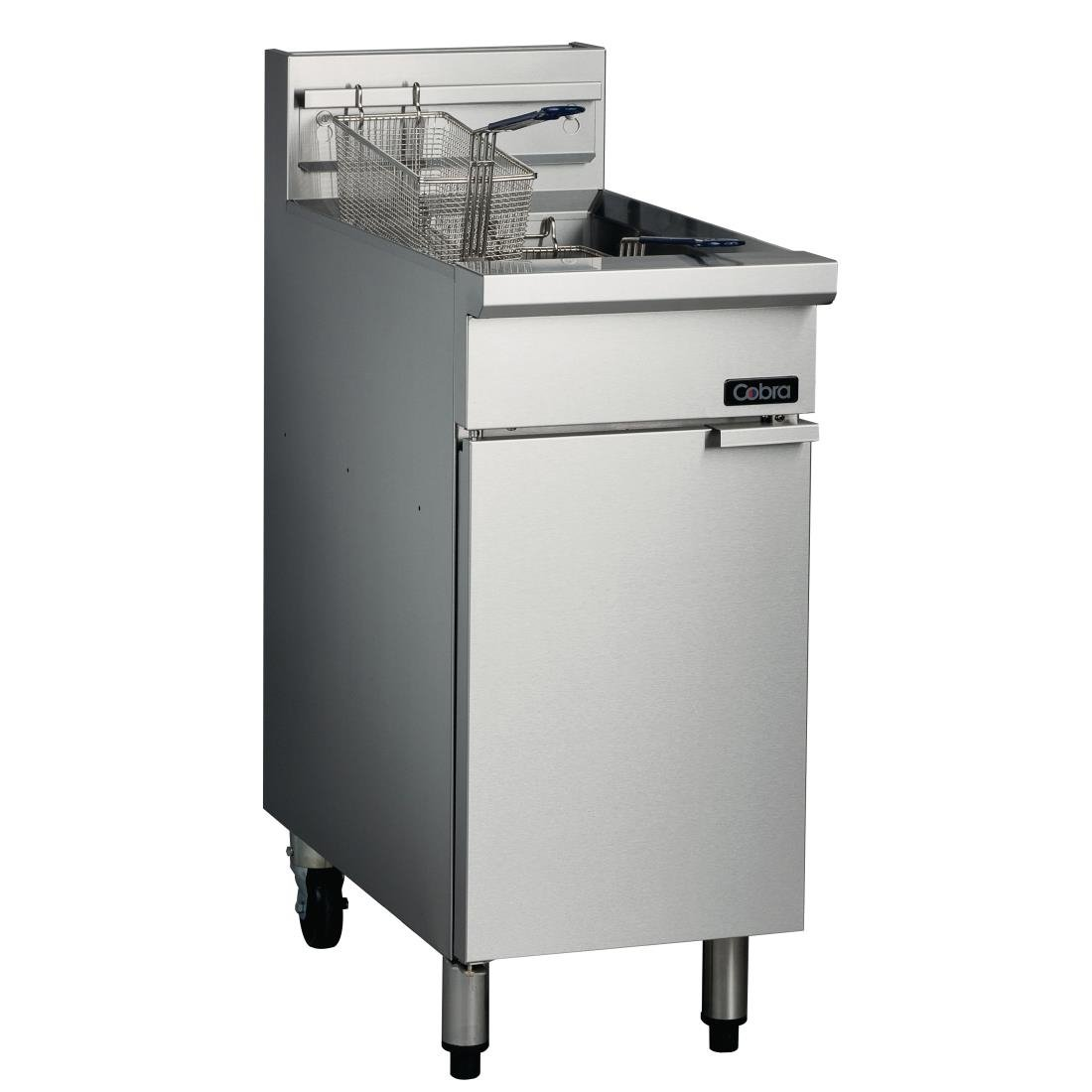 Blue Seal Cobra Single Tank Twin Basket Free Standing Natural Gas Fryer CF2
