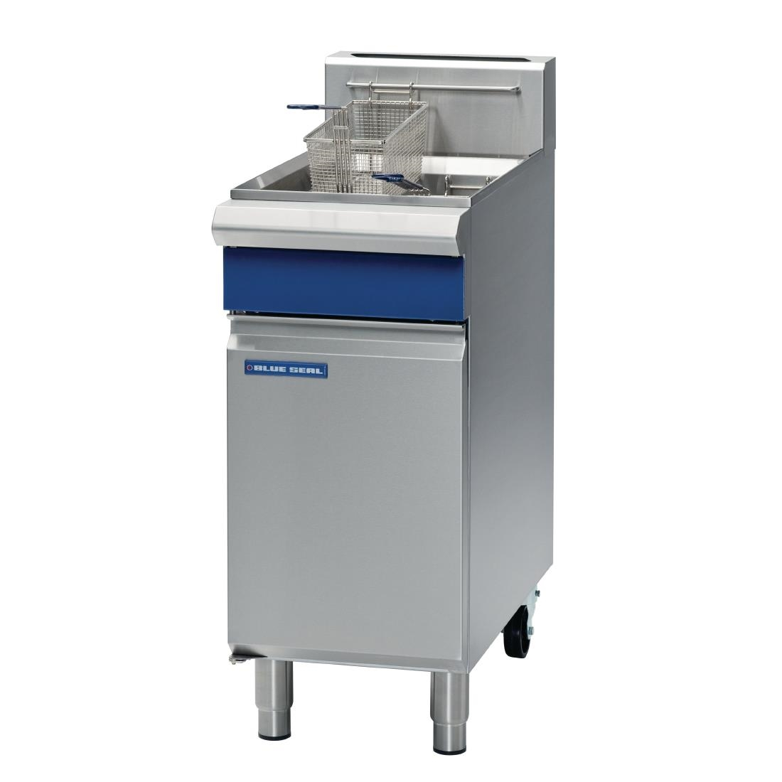 Blue Seal Single Tank Twin Basket Free Standing Natural Gas Fryer GT18