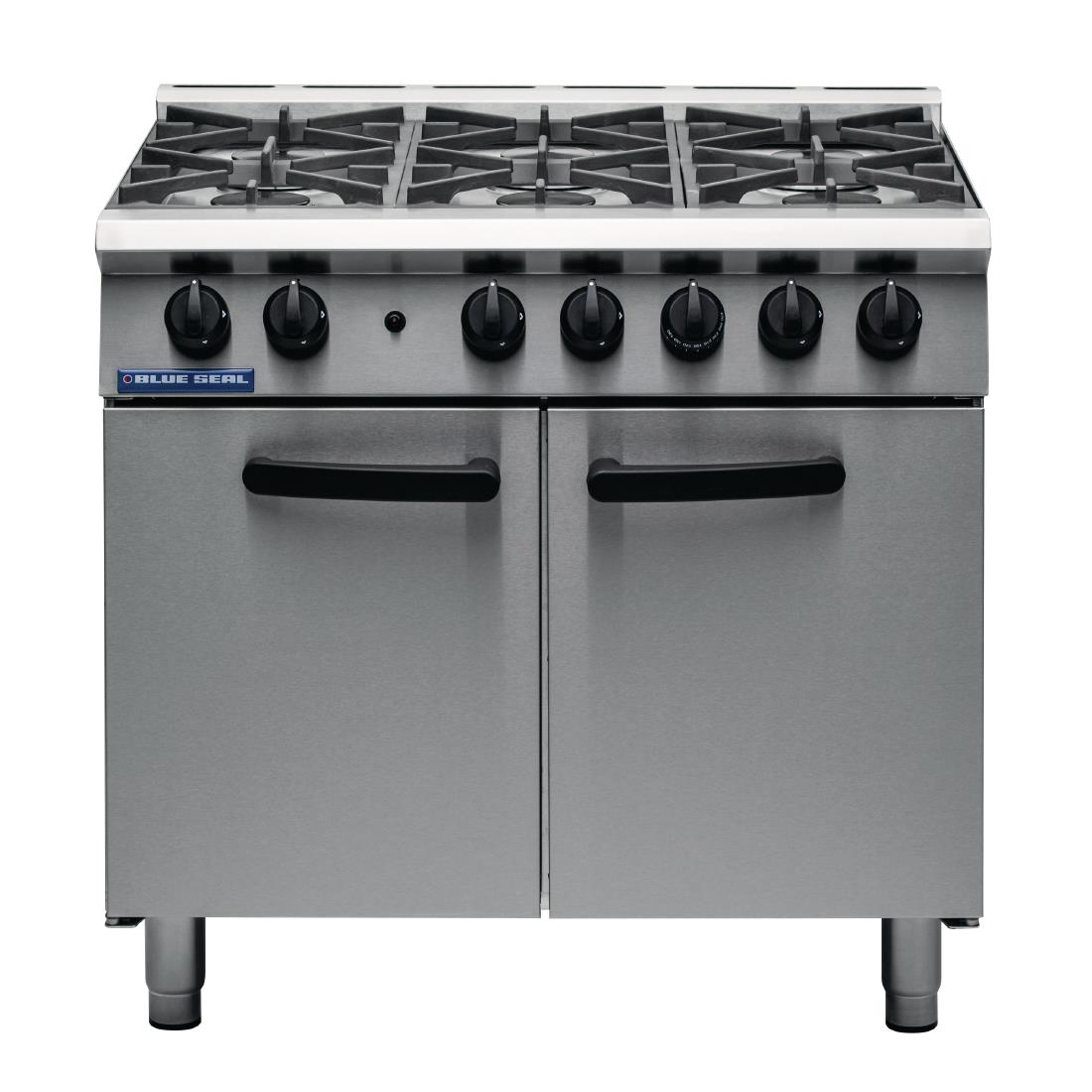 Blue Seal 6 Burner Oven Range Medium Duty LPG G750 6