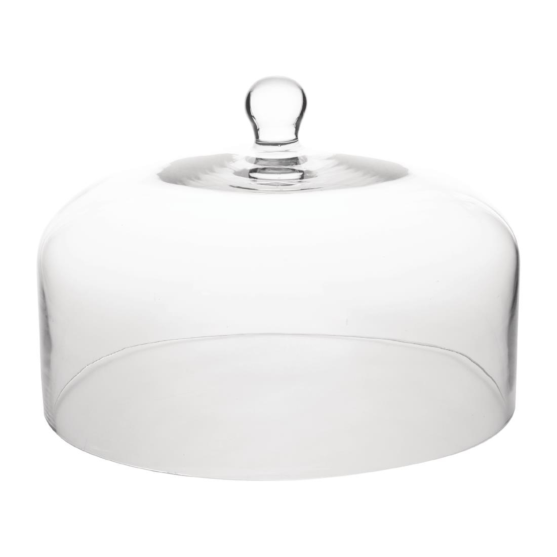 olympia glass cake stand dome for base cs013 285diax200h - Glass Cake Dome