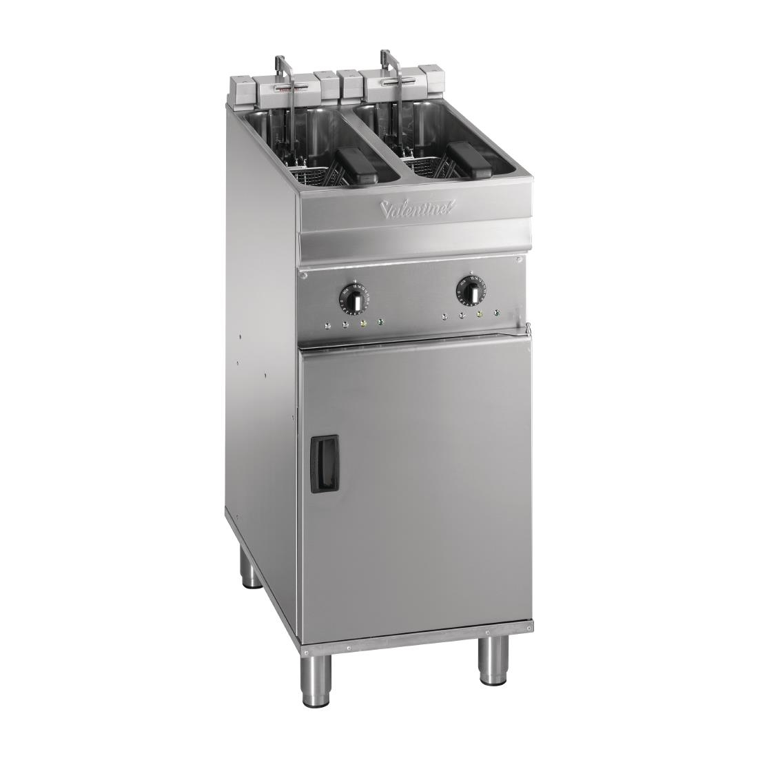 Valentine Twin Tank Twin Basket Free Standing Electric Filtration Fryer Evo 220P
