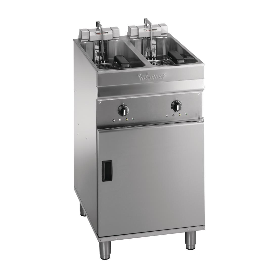 Valentine Twin Tank Twin Basket Free Standing Electric Filtration Fryer Evo 2525P