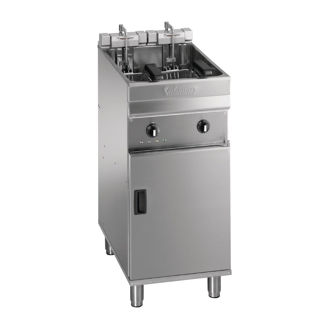 Valentine Single Tank Twin Basket Free Standing Electric Filtration Fryer Evo 400P