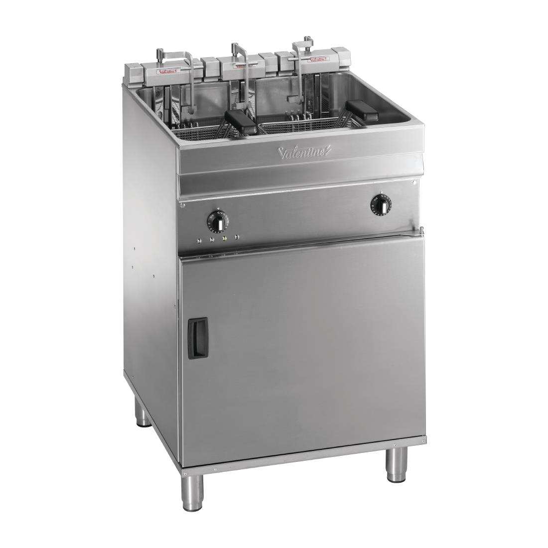 Valentine Single Tank Twin Basket Free Standing Electric Filtration Fryer Evo 600P